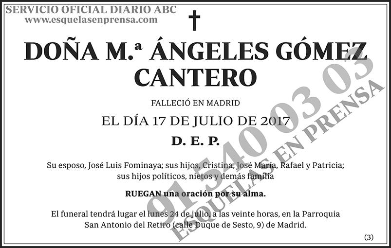 M.ª Ángeles Gómez Cantero